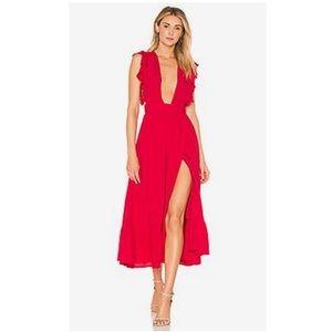 Majorelle mistwood red dress